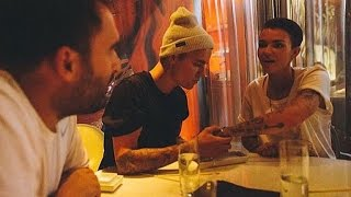 Ruby Rose and Justin Bieber Compare Tattoos at Cozy Dinner