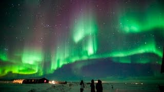 Aurora Borealis (Northern Lights) Time Lapse HD Iceland 2016