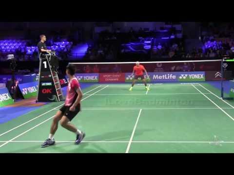 Nice Angle Highlights MS Lin Dan 林丹 (CHN) VS Chou Tien Chen 周天成 (TPE) | Denmark Open #Badm