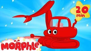 My Magic Logging Machine Morphle - kids construction vehicles (+ police car, crane, ambulance)