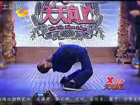 Robert Muraine   Mr Fantastic on 'Day Day Up' in China on Hunan Tv