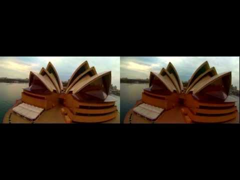 3D GoPro Quadcopter flight at Sydney Opera House