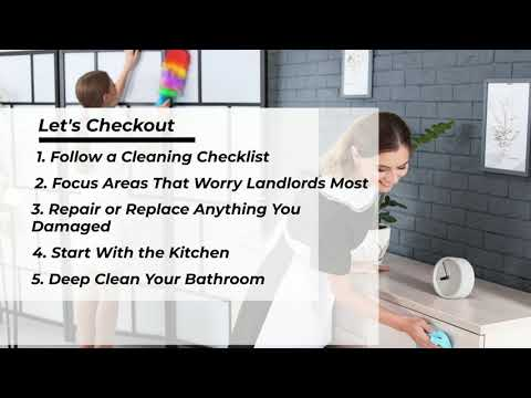 How Should You Clean A Rental House Before Moving