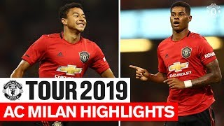 AC Milan Highlights | Tour 2019 | ICC | Reds Win On Penalties! | Manchester United