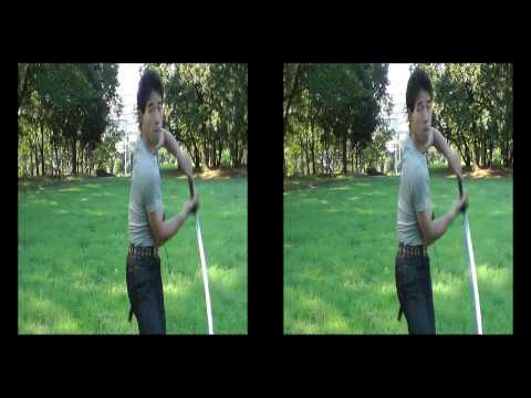 3Dビデオカメラでアクションテスト