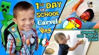 CHASE'S 1st Day of SCHOOL! + Shawn's Old House Tour w  Carvel Ice Cream FUNnel Vision Vlog