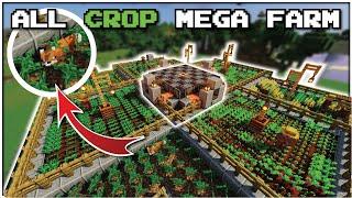 Minecraft Full Auto Emerald Generator - ALL IN ONE CROP FARM