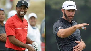 Do you believe that Tiger Woods can outdrive Dustin Johnson?