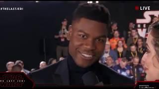John Boyega Finn interview - Star Wars The Last Jedi Red Carpet World Premiere