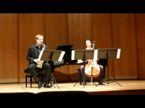 Carl-Emmanuel Fisbach — Sonata for Alto Saxophone and Cello, I, Edison Denisov