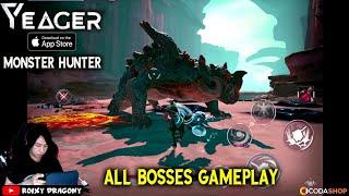 Yeager (ENG) !!! All Bosses Gameplay - Game Monster Hunter yg Keren Parah !!!  ios Gameplay