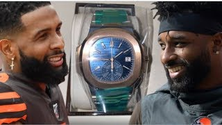 Odell Beckham Jr  Gifts Jarvis Landry A $110K Watch For His Birthday!