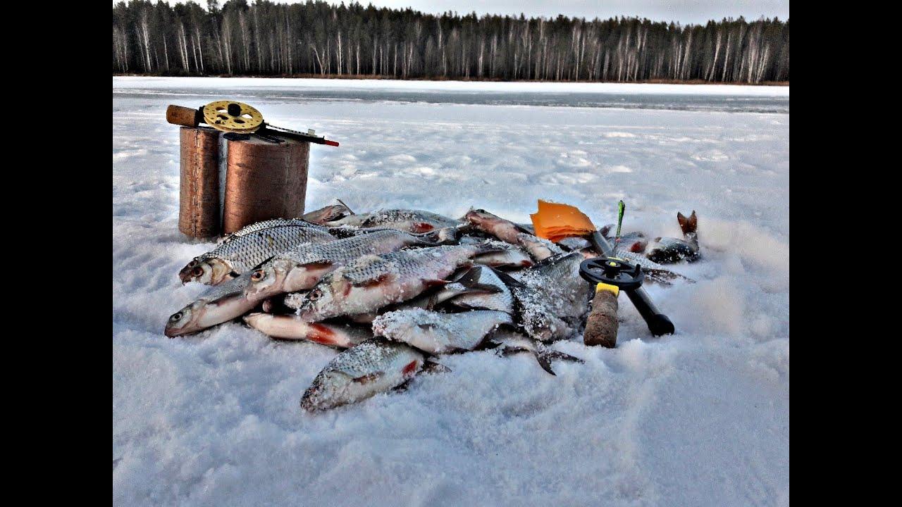 Рыбалка зимния на водохранилище
