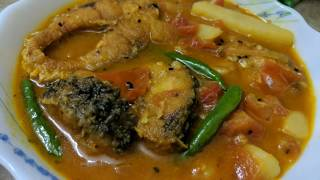Fish curry with tomato , Macher tok jhol, Rui bilahi jhul