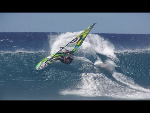 Extreme Windsurfing at Hookipa Beach - Jason Polakow 2013