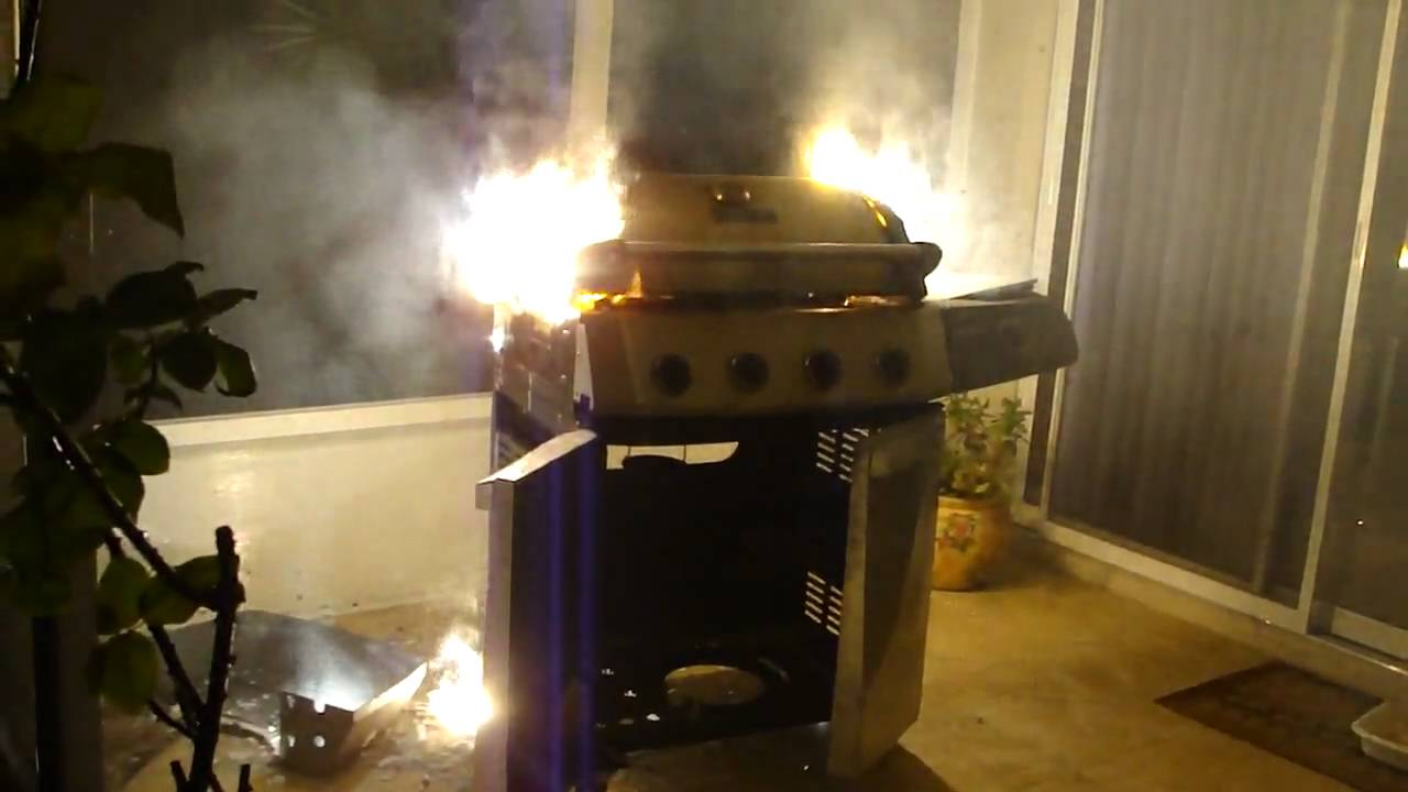 My Perfect Flame Gas Grill Up In Smoke Youtube