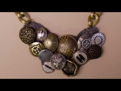 Button Necklace DIY