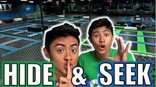 HIDE AND SEEK IN WORLD'S LARGEST TRAMPOLINE PARK!!