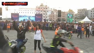 DAY-2{ PART-2 }Jannatul Nayeem Avril Bike Stunts। DHAKA BIKE CORNIVAL 2017। Biggest Bike Show in bd.