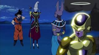 Bills salva a Goku del ataque de sidra.| Freezer vs Goku (HD) Sub Español