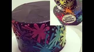 Buttercream LOVE: Paintball Cake Technique