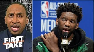 Stephen A. disagrees with Joel Embiid naming Wilt Chamberlain the GOAT over MJ   First Take