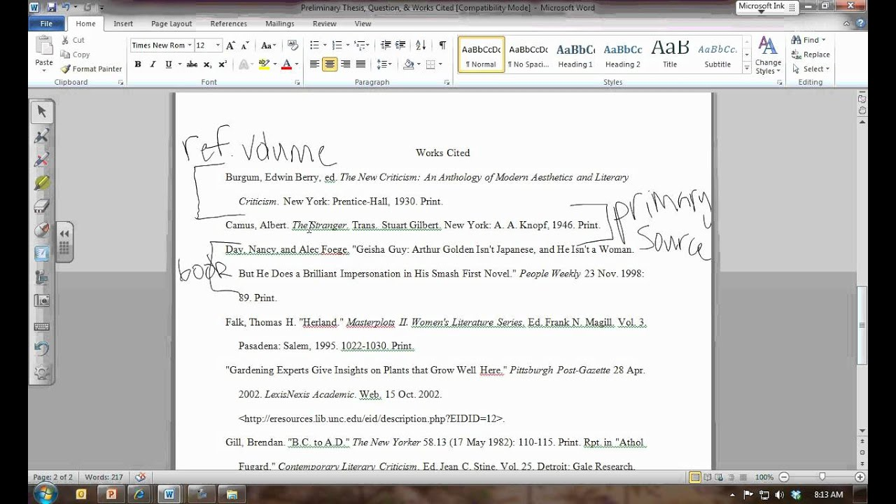 essay works cited how to properly acknowledge sources in an essay