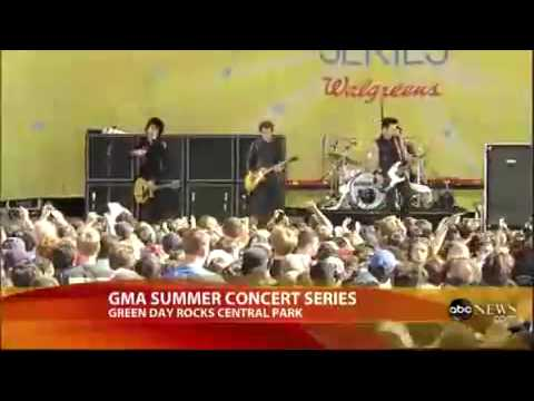 Green Day The Static Age (Live @ Good Morning America)