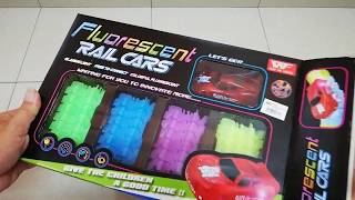 Kids fashion toys/Fluorescent Rail cars/荧光轨道车玩具