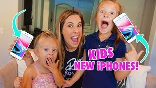 BUYING OUR 4 YEAR OLD and 7 YEAR OLD NEW iPHONES! 📱