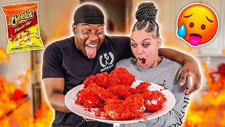 HOW TO MAKE FRIED FLAMIN' HOT CHEETOS CHICKEN WINGS | COOKING WITH THE PRINCE FAMILY
