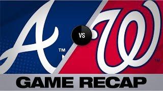 Sanchez, 'pen silence Braves' hot bats   Braves-Nationals Game Highlights 9/15/19