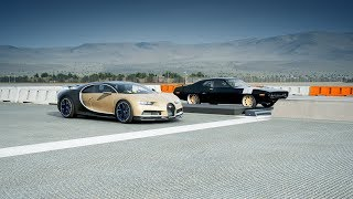 *2018* Bugatti CHIRON vs *2000HP* Plymouth GTX