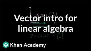 Vector intro for linear algebra