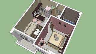 Sketchup Interior Design ( Apartment)