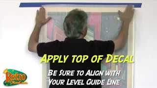 How to Apply Large Wall Decals