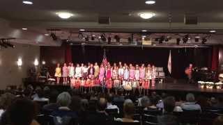 """Lower School Closing 2015, Lower School Chorus, """"Wherever I Go,"""" by Marcia Taylor"""
