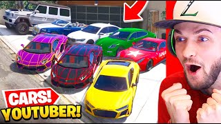 Stealing *YOUTUBERS* Cars in GTA 5! (Real Life Cars)