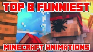 """Minecraft Videos """"Try Not To Laugh or Grin in Minecraft - TOP 8 Funniest Minecraft Animations"""