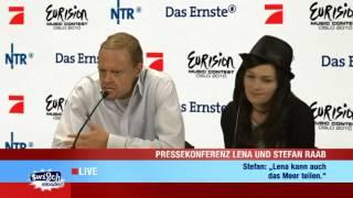 PK Lena und Stefan Raab: Lenavision Songcontest