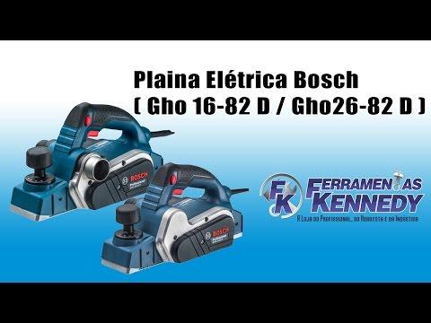 Plaina Elétrica 710W GHO26-82 D Bosch - 220V - Vídeo explicativo