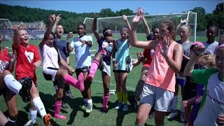 ATL UTD pitches in at the Julie Foudy Soccer Leadership Academy