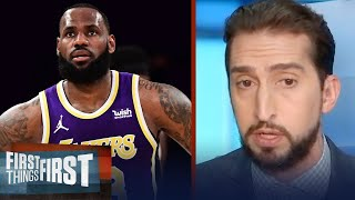 LeBron James & Lakers shouldn't fear the play-in — Nick Wright | NBA | FIRST THINGS FIRST
