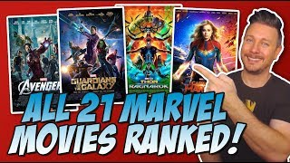 All 21 MCU Movies Ranked Worst to Best (w/ Captain Marvel Review)