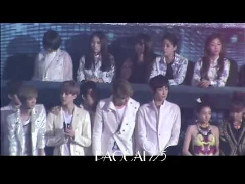 [291112 FANCAM] Dara Bom EXO f(x) at the sitting area @ SBS Gayo Daejun