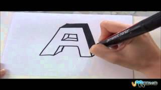 Como desenhar o A em 3D