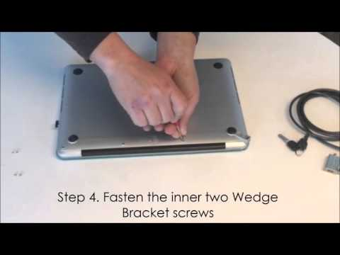 Maclocks MacBook Wedge Bracket Installation Video - MacBook Security Bracket