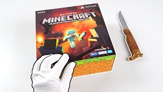 """PlayStation Vita """"MINECRAFT"""" Console Unboxing! (PS Vita Special Edition)"""