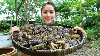 Yummy Rice Crab Pounding With Ferroniella Lucida Recipe - Rice Crab Pounding - Cooking With Sros
