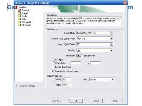 How to create PDF's with adobe acrobat